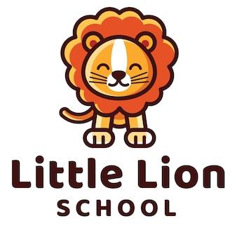 Modèle de logo de petite école de lion