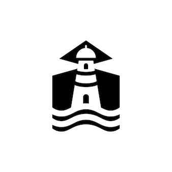 Modèle de logo de phare