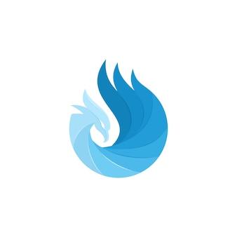 Modèle de logo phoenix fire bird