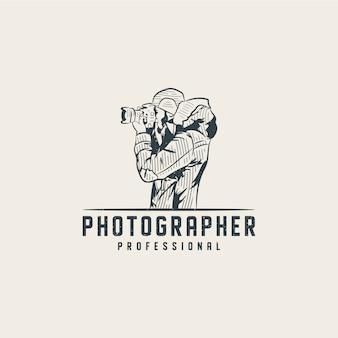 Modèle de logo de photographe professionnel