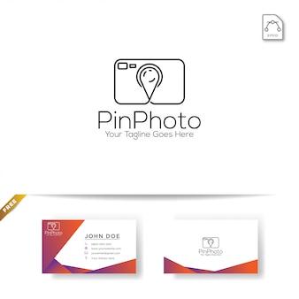 Modèle de logo de photographe