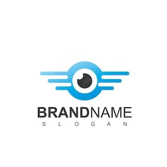 Modèle de logo de photographie aérienne