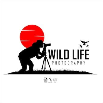Modèle de logo de photographie de la vie sauvage