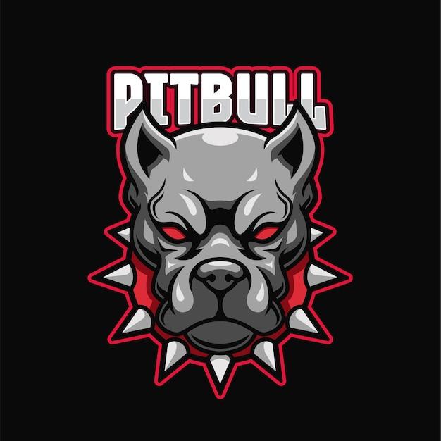 Modèle de logo pitbull e-sports