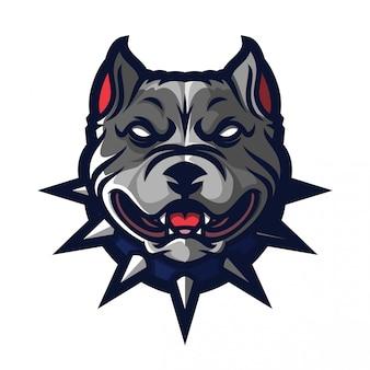 Modèle de logo pitbull