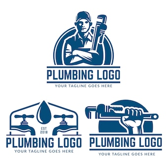 Modèle de logo de plomberie