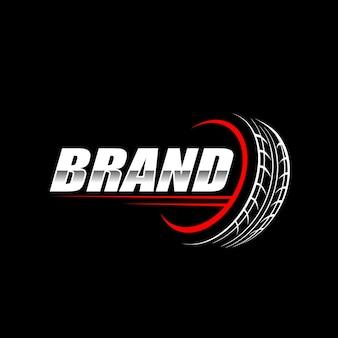 Modèle de logo de pneu