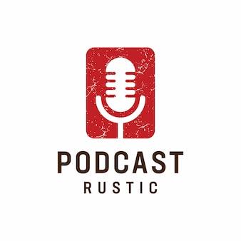 Modèle de logo de podcast