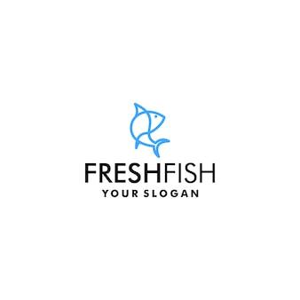 Modèle de logo de poisson frais