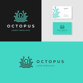 Modèle de logo de poulpe