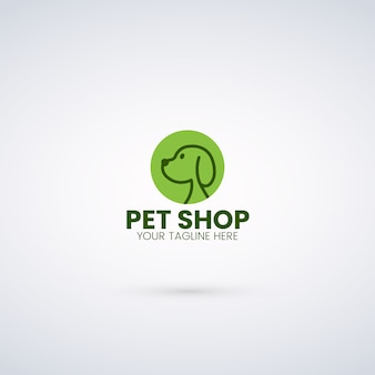 Modèle de logo pour animalerie