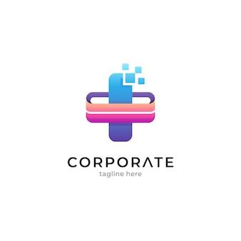 Modèle de logo pour l'application numérique de santé médicale
