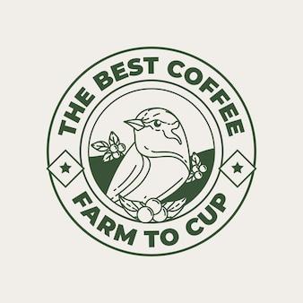 Modèle de logo pour café