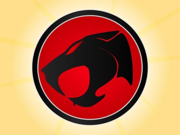 Modèle de logo pour les chats de tonnerre