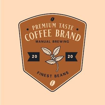Modèle de logo pour le commerce du café