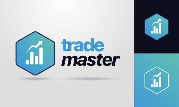 Modèle de logo pour le commerce ou la finance