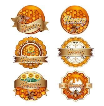 Modèle de logo pour les produits du miel