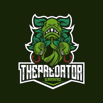 Le modèle de logo predator esport