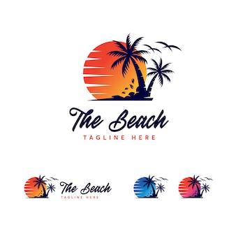 Modèle de logo premium beach