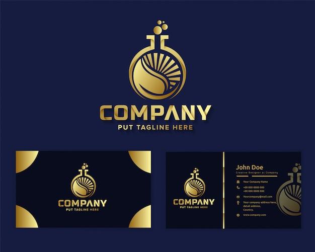 Modèle de logo premium luxe nature travail