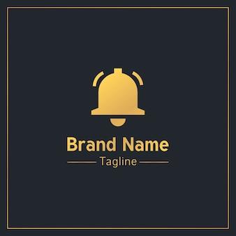 Modèle de logo professionnel bell or