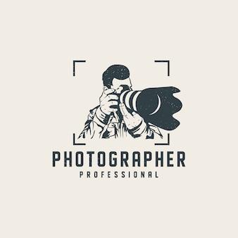 Modèle de logo professionnel photographe