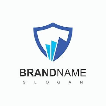 Modèle de logo de protecteur de fichier