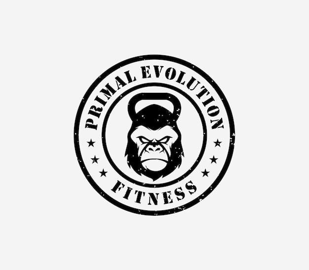 Modèle de logo de remise en forme de gorille