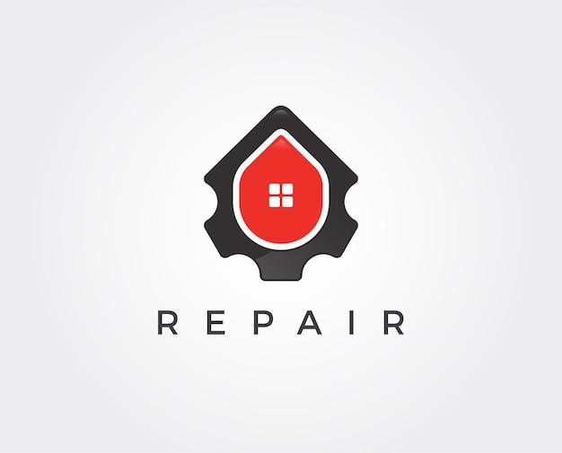 Modèle de logo de réparation à domicile minimal