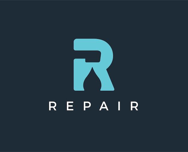 Modèle de logo de réparation minimale