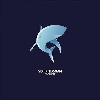Modèle de logo de requin