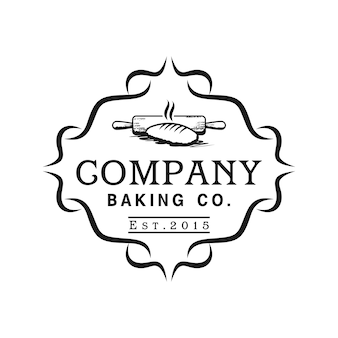 Modèle de logo de restaurant de boulangerie