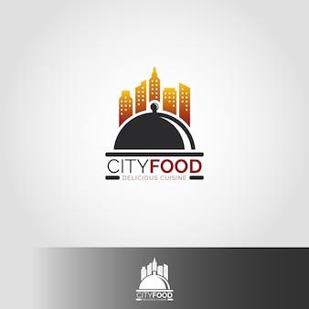 Modèle de logo de restaurant city food