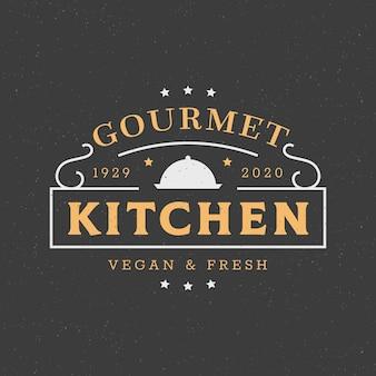 Modèle de logo de restaurant créatif