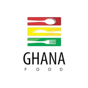 Modèle de logo de restaurant ghanéen