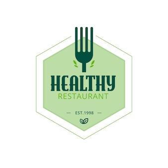 Modèle de logo de restaurant sain