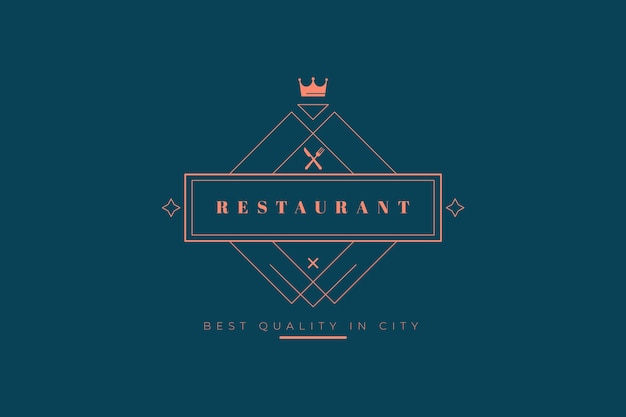 Modèle de logo de restaurant