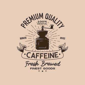 Modèle de logo rétro de café
