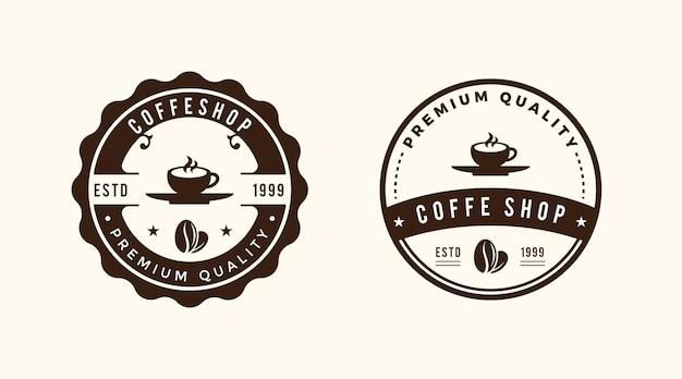 Modèle de logo rétro vintage de café