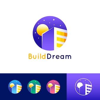 Modèle de logo de rêve de construction