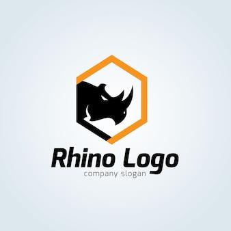 Modèle de logo rhino.