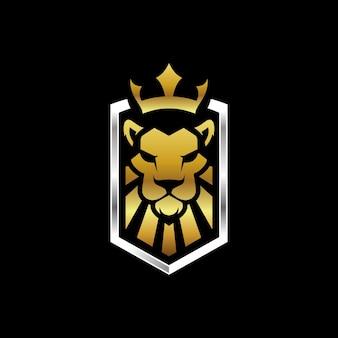 Modèle de logo de roi lion