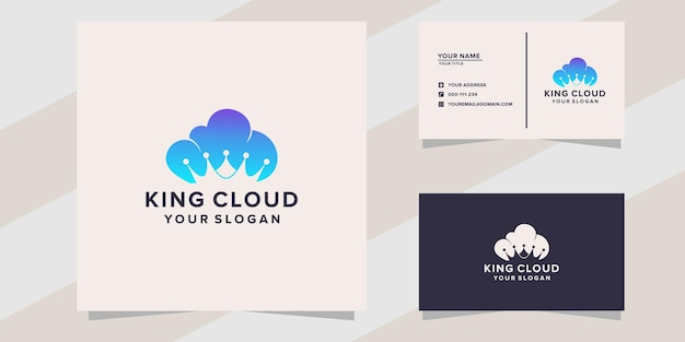 Modèle de logo de roi des nuages