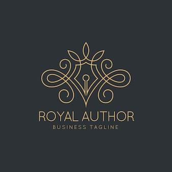 Modèle de logo royal auteur
