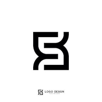 Modèle de logo s lettre symbole