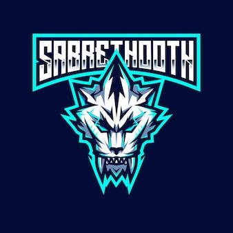 Modèle De Logo Sabrethooth Esport Vecteur Premium