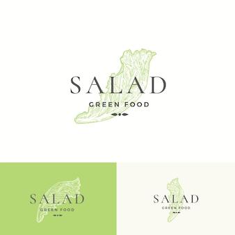 Modèle de logo de salade de laitue.