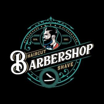 Modèle de logo de salon de coiffure
