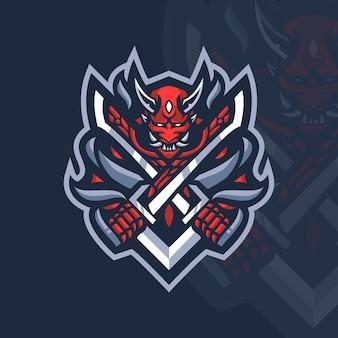 Modèle de logo samurai