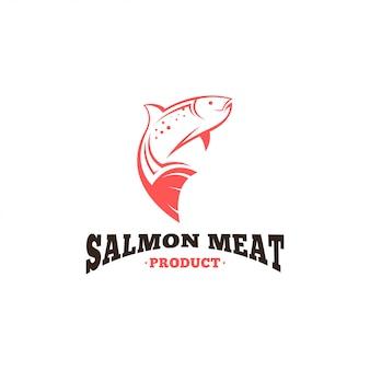 Modèle de logo de saumon.